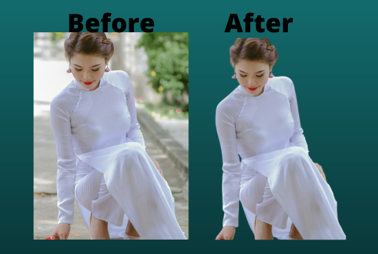I will do photo background removal the way you preferred