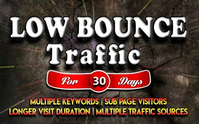I will bring targeted web traffic,  visitors from worldwide