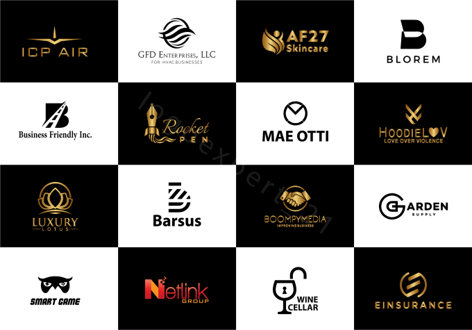 I will do modern minimalist,  luxury,  initial and unique business logo design