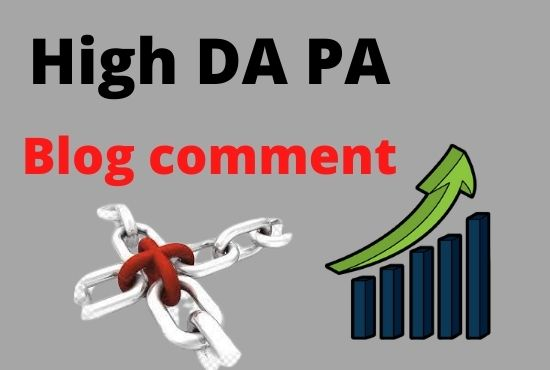 Guaranteed 50 high DA PA blog comment for your higher ranking