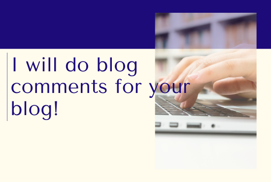 I will comment on your blog post