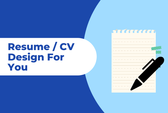 I will design professional resume for you