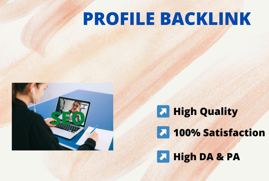 I will create 150 high authority profile backlinks manually