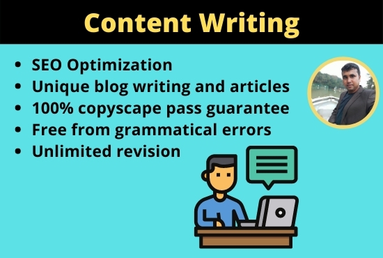 I will write content for an Article,  Blog post,  Social media or website