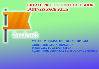 Create Professional Facebook Business Page Suite