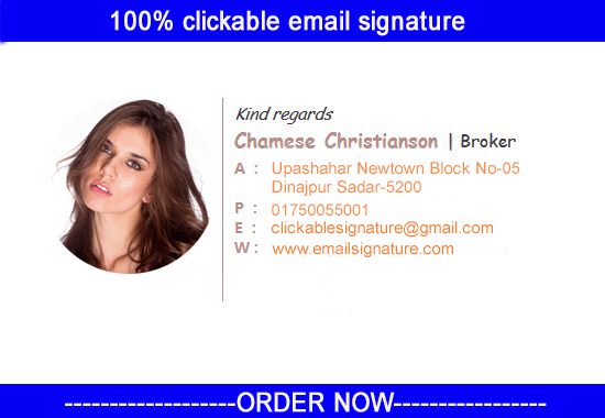 i will create professional html clickable email signature