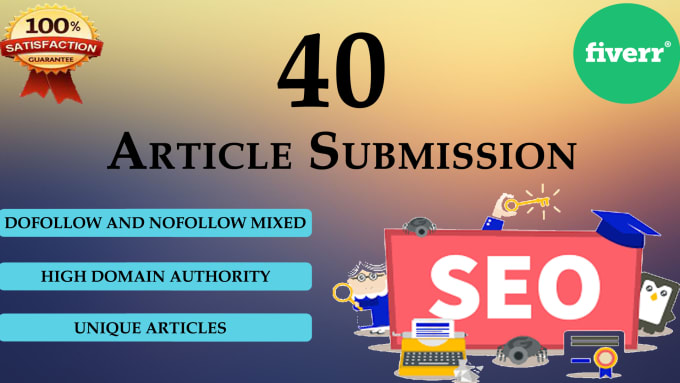 I will create 40 article submission on high DA sites