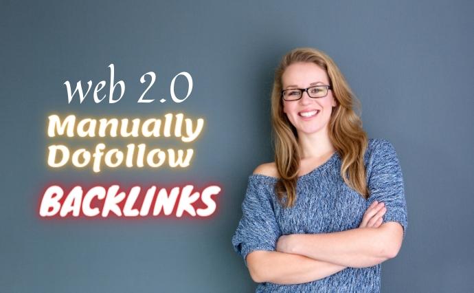I will create manually do-follow web 2.0 backlinks