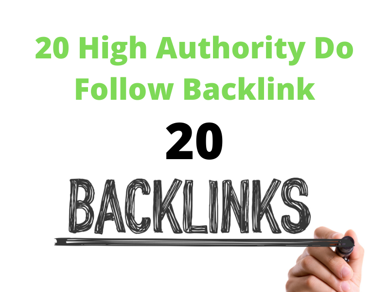 I will provide 20 high authority manual seo dofollow backlink service for you