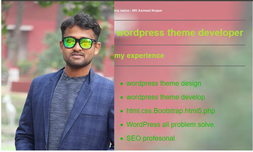 I will do WordPress theme customization and WordPress Website Design.