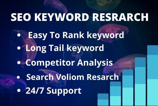I will keyword research for your SEO journey