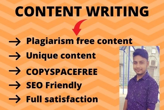 I will be your content writer and copywriter.