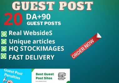 Write and Publish 10 Guest Posts Unique Content high authority website permanent backlinks