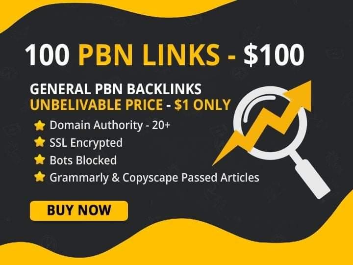 We do 15 pbn links permanent homepage high da tf