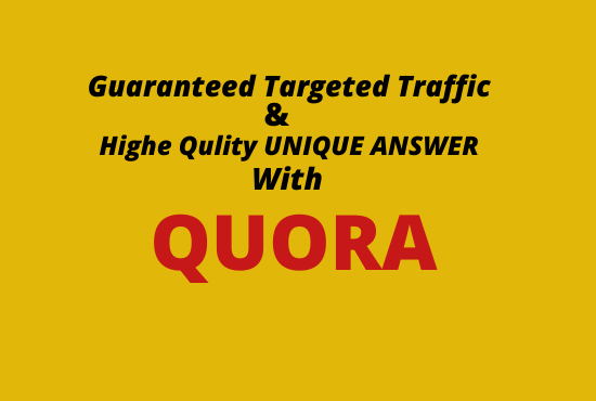 I will Promote website with HQ 20 Quora answer.