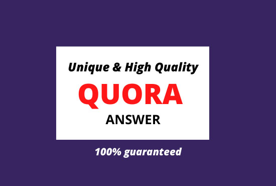 I will provide 30+5 high quality Quora answers.
