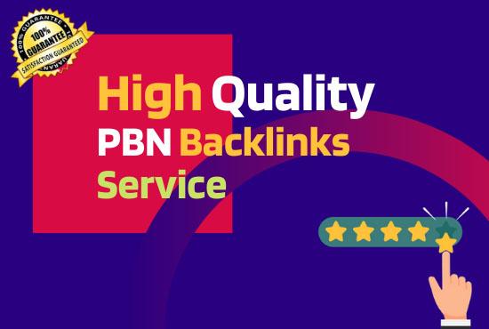 I will do 10 High Quality PBN Backlinks