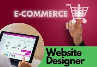 I will build Modern Wordpress website and E-commerce Store