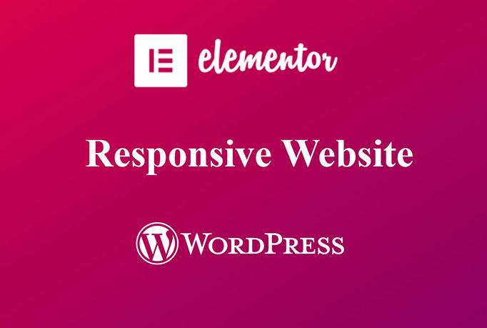 I will create responsive website using Elementor pro