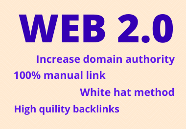 25 Web 2.0 Backlinks High Authority Do- Follow permanent contextual link building