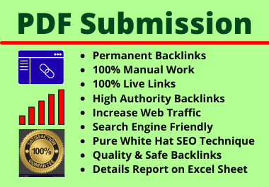 60 PDF Submission High Authority Different Site Manual Permanent Complete Link Building