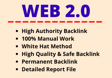 25 Web 2.0 Backlinks High Authority Permanent Manual Contextual Link Building