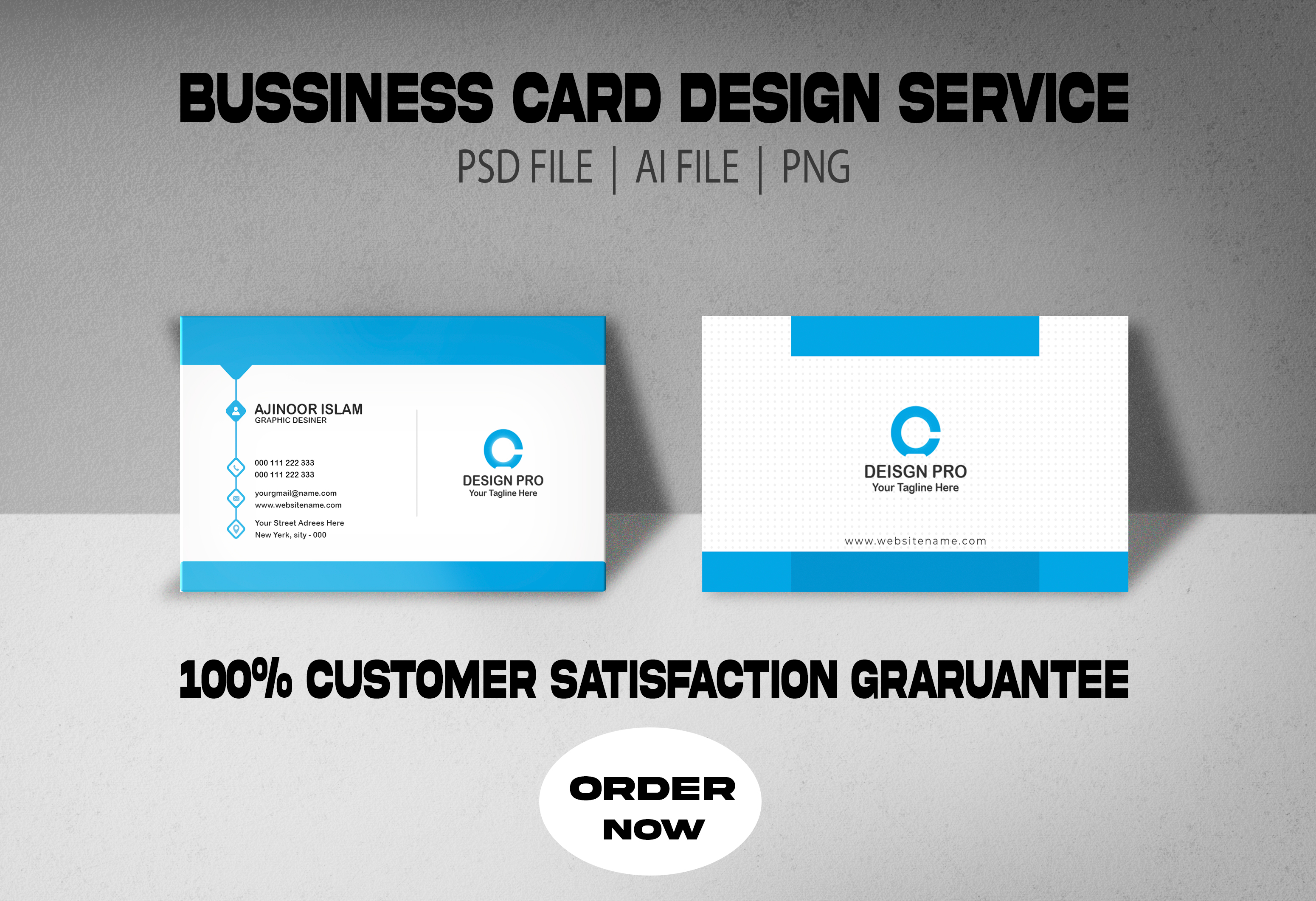 create a professional business card design for you