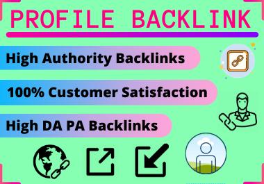 20 Profile Backlinks high authority website permanent backlinks unique link building