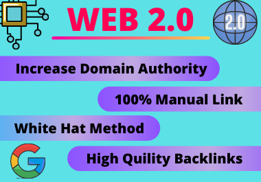 20 Web2.0 Backlinks high authority link building manual permanent PBN