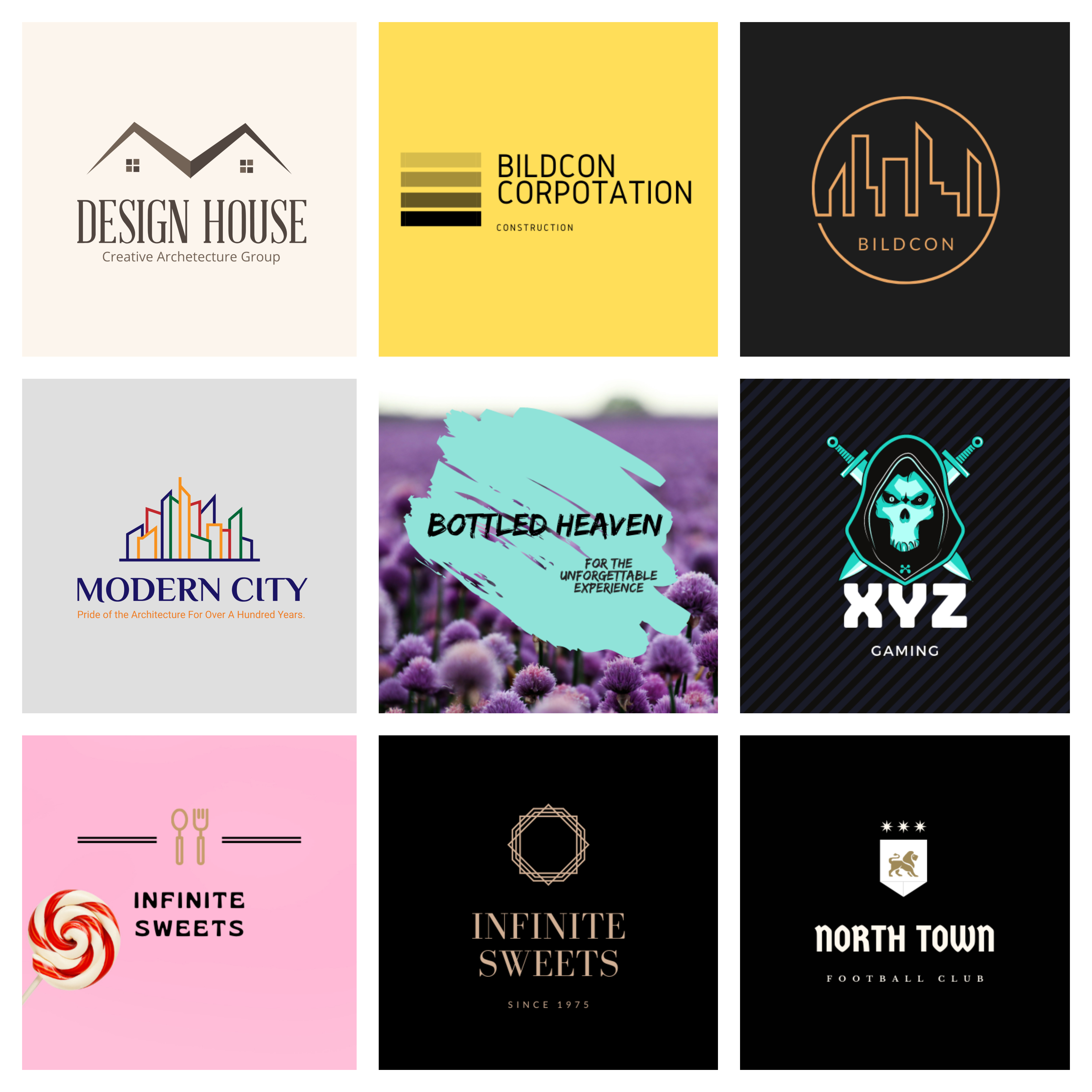 i will design minimalist high resolution logos for you