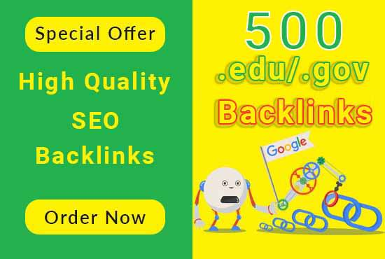 I will create 500 high authority link building,  edu and gov backlink