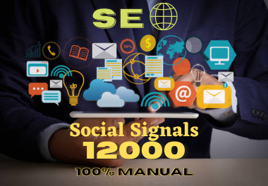 I Will 12000 Social Signals, to Website Improving for 30Days