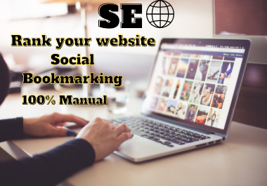 Get Manual 100 PR Social Bookmarking,  Backlinks with Boost alexa Ranking