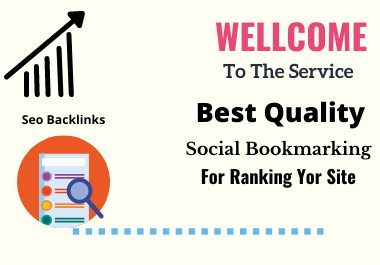 Get best quality 300 Social Bookmarking for Ranking your Site.