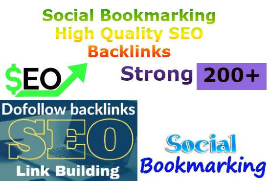 I will provide 200 high quality social bookmarking backlinks Manually
