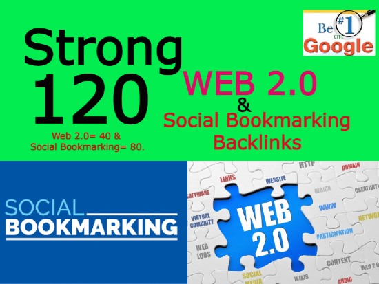 I will create 120 high authority web 2.0 and social bookmarking backlinks manually