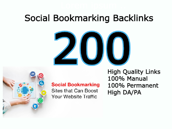 I will do 200 social bookmarking backlinks to push your site for Google 1 Rank