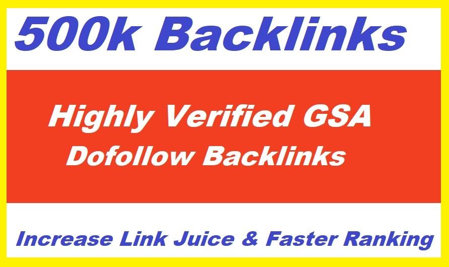 500k High Quality GSA SER Backlinks For Multi-Tiered Link Building