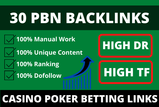 30 high DR pbn backlinks permanent homepage post from high metrics domains