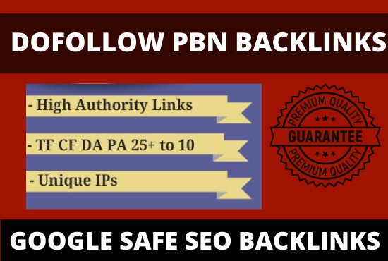20 pbn backlinks from high DA PA dofollow permanent links