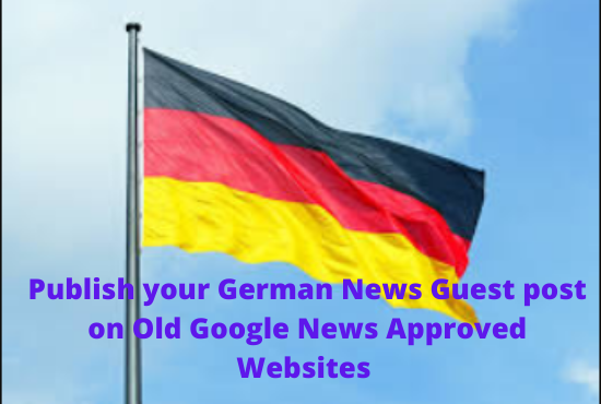 I will do guest post on German News sites