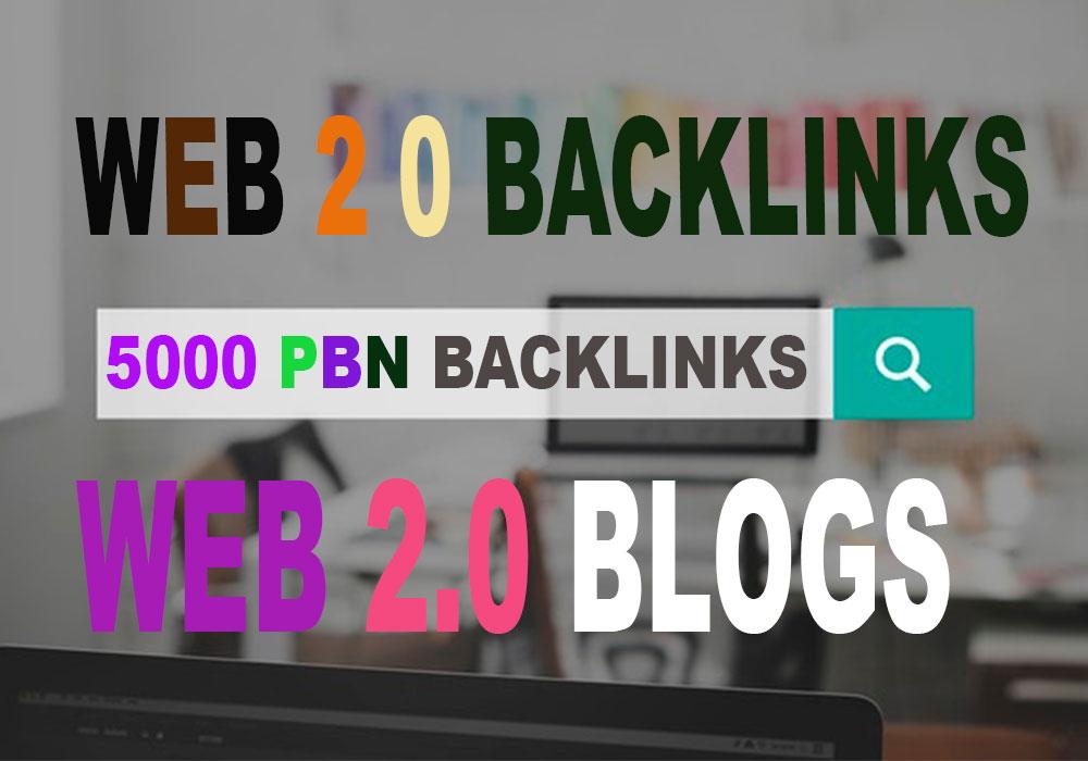 5000 web 2 0 PBNs Blogs SEO Permanent Backlinks Manual work Whitehat SEO