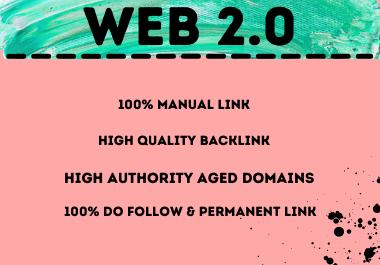 Effective 20 High Authority Aged Domains,  100 Do Follow Link,  Web 2.0 Backlinks Manually