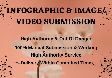 I will do manual 20 infographic & image/video submission in top high DA & PA sharing sites