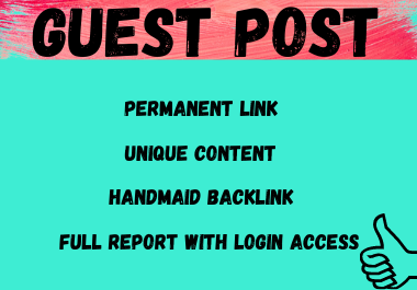 Write and publish 10 Do-Follow Guest Post high authority websites unique article DA 80+