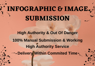 I will do manual 20 infographic & image submission in top high DA & PA sharing sites
