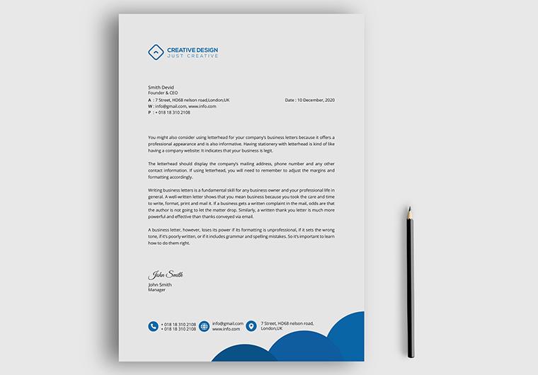 I will do creative letterhead design