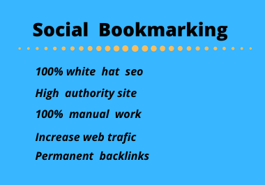 I will do 20 sciall bookmarking manual work