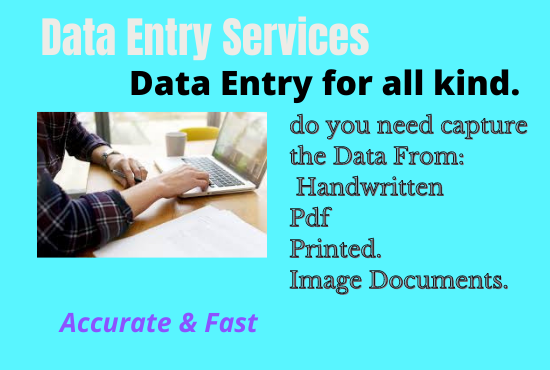 I will do any form of data entry task for you at cheap rate