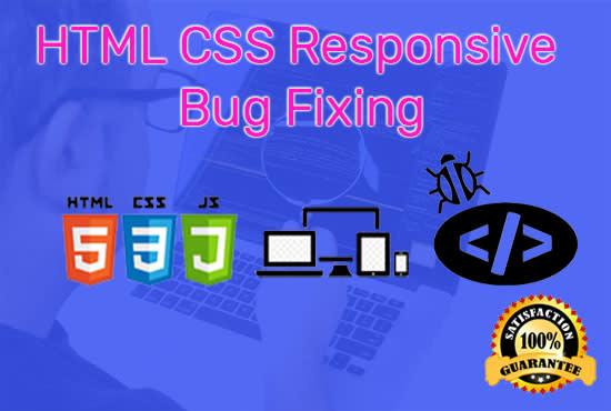 HTML CSS Responsive Website Bug Fixing